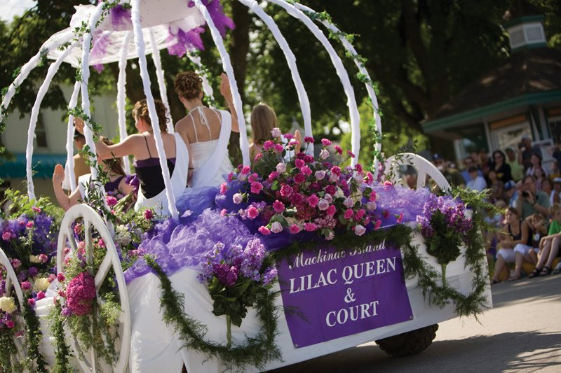 Lilac queen & court
